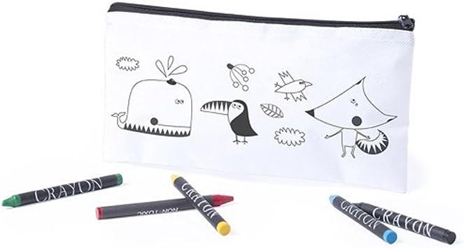 MIRVEN Lote de 20 Estuches para Colorear con 5 Pinturas de Cera Incluidas Cada Cumpleaños, Fiestas de Colegios,comuniones, niños Bodas.: Amazon.es: Oficina y papelería