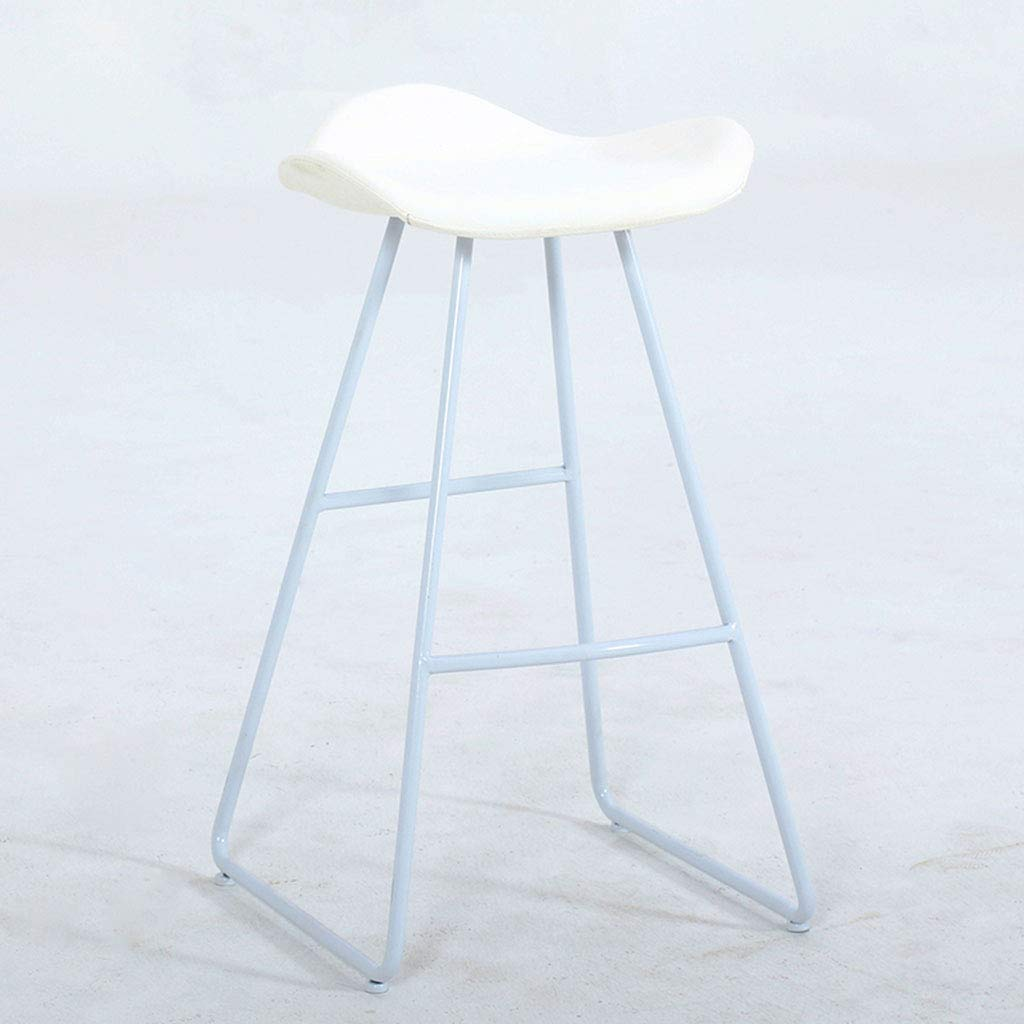 White 75cm Garden Chair Iron Bar Stool Contemporary and Contracted, seat Height Choice of Colours White,Brown,65cm