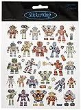 Tattoo King SK129MC-4289 Multicolored Sticker, Robots