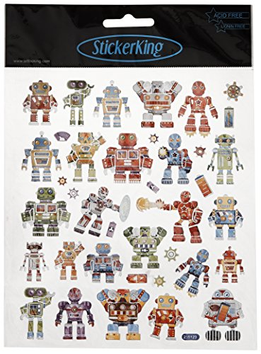 Tattoo King SK129MC-4289 Multicolored Sticker, Robots