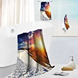 simple luxury superior bath towel set Sunshine Clouds and Valley Sun Divider in College for Hotels, Home, Bathrooms 13.8''x13.8''-11.8''x27.6''-27.6''x55.2''