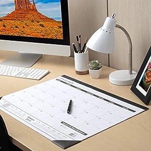AT-A-GLANCE 2019 Desk Calendar, Desk Pad, 21-3/4″ x 17″, Standard, Ruled Blocks (SK2400)