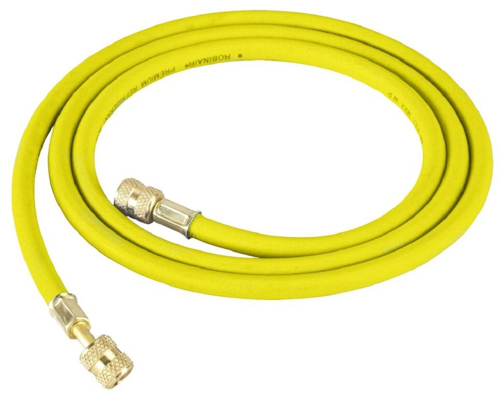 Robinair 31078 Yellow 72 Long Premium Refrigerant Charging Hose (1/4 Standard Hose with Standard Fittings)