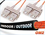 OM2 SC SC Indoor/Outdoor Duplex Fiber Patch Cable 50/125 Multimode - 150 Meter
