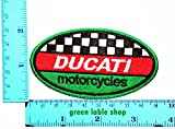 3 Pieces Ducati Motorcycles Bike Racing Team Patch Logo Sew Iron on Embroidered Appliques Badge Sign Costume Send Free Registration