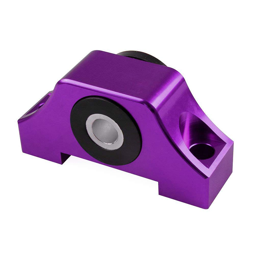 Purple Set of Billet Torque Mounts for 1992-2000 Honda Civic or any B-series//D-series and 1994-2001 Acura Integra motor using OE style torque mounts.