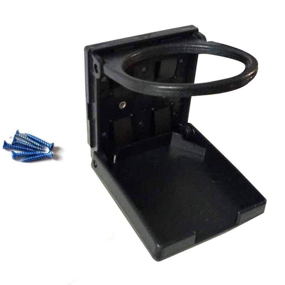 Black EEEKit 2-Pack Universal Adjustable Folding Cup Drink Holder Car TRUCK BOAT VAN Home Plastic 99mm
