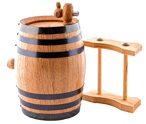 Sofia's Findings 1 Liter American Oak Aging Whiskey Barrel | Age Your own Tequila, Whiskey, Rum, Bourbon, Wine - 1 Liter or .26 Gallon Barrel by Sofia's Findings (Image #1)