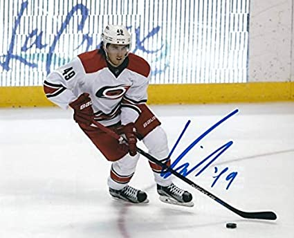 Amazon.com: Autographed Signed Victor Rask 8x10 Carolina ...