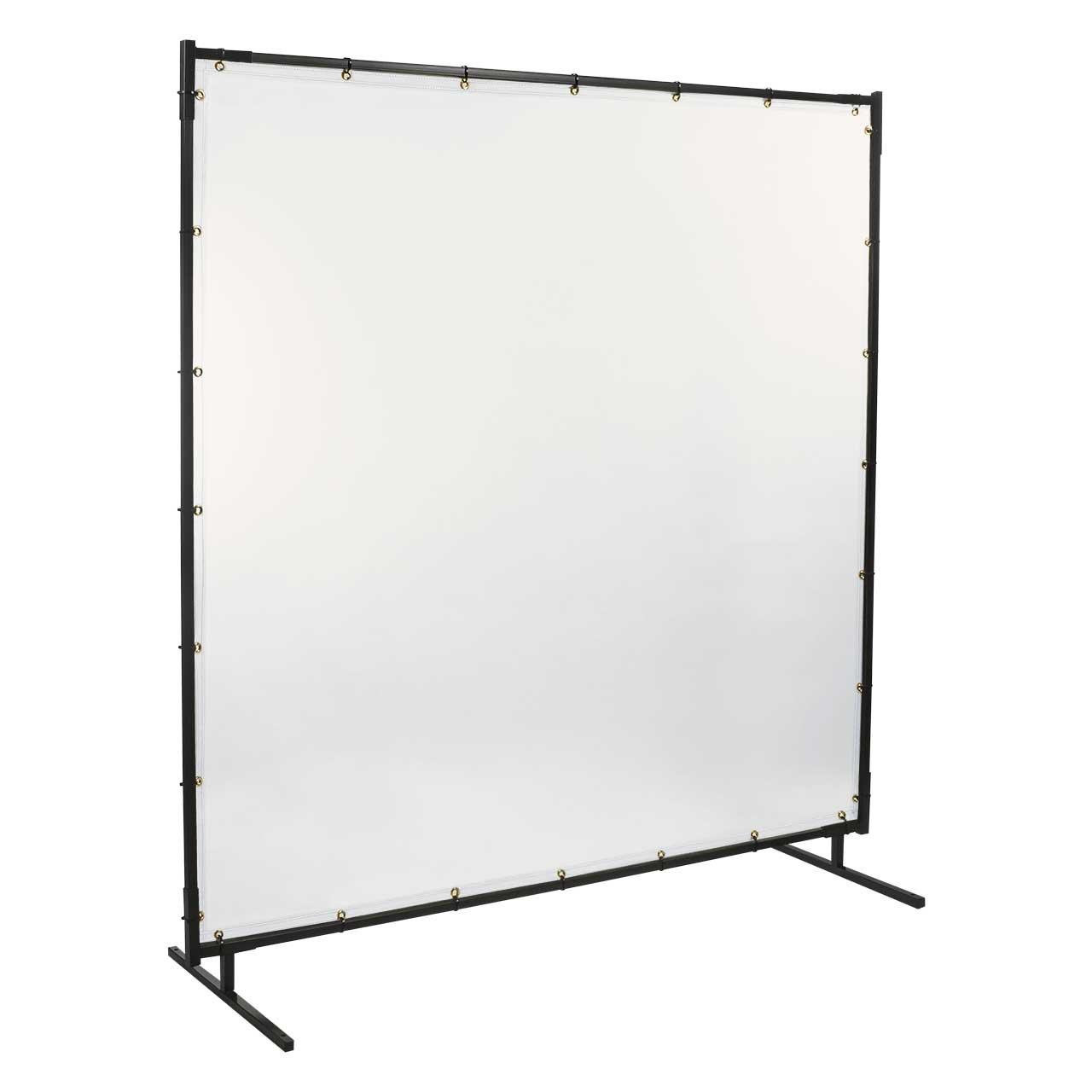 Steiner 539-6X10 Protect-O-Screen Classic Welding Screen with 16 Mil Vinyl Curtain, Clear, 6' x 10' 6' x 10'