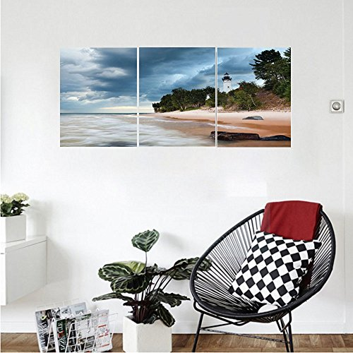 Lighthouse Medallion (Liguo88 Custom canvas Lighthouse Decor Collection Au Sable Lighthouse In Pictured Rock National Lakeshore Michigan Usa. Bedroom Living Room Wall Hanging)