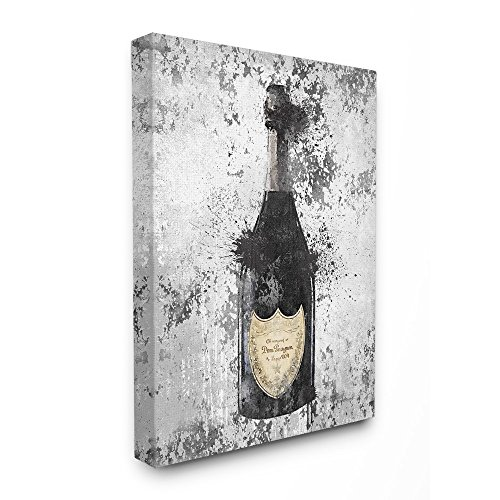 The Stupell Home Decor Collection Champagne Grey Gold Wall Art, 24x30, ()