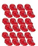 MLB Mini Batting Helmet Ice Cream Sundae/ Snack Bowls, Nationals - 24 Pack