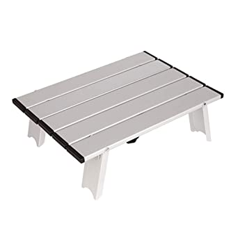 LUOXIN Mini mesa de camping Mesa plegable Mesa de servicio ...