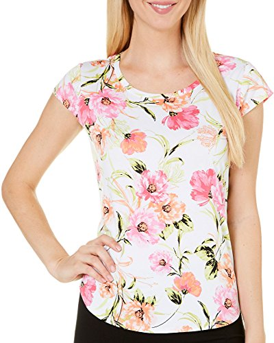 Used, Nue Options Womens Melbourne Floral Cap Sleeve Top for sale  Delivered anywhere in USA