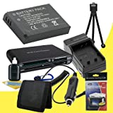 NP-BN1 Lithium Ion Replacement Battery w/Charger + Memory Card Reader/Wallet + Deluxe Starter Kit for Sony DSC-TX66, DSC-T110, DSC-T99, DSC-TX5, DSC-TX7, DSC-TX9, DSC-TX10, DSC-TX100V, DSC-W310, DSC-W320, DSC-W330, DSC-W350, DSC-W380, DSC-W510, DSC-W530,
