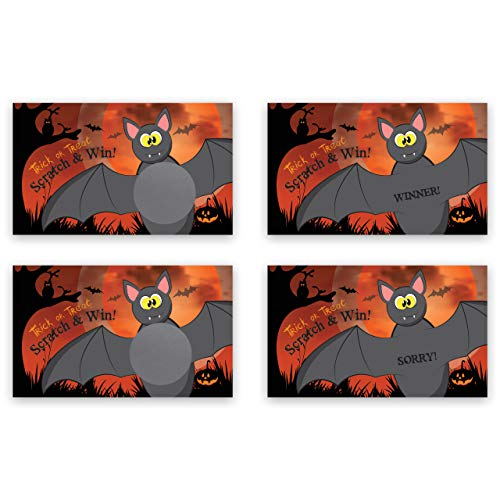 Halloween Bat Scratch Off Game Card - 25 pack - My Scratch Offs