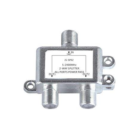 Yongse Jasen JS-SP02 Satellite 2 Way HD Digital Coaxial Cable Splitter Bi-Directional