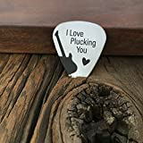Best Sierra Metal Design Birthday Gift For Men - I Love Plucking You Guitar Pick Christmas Gift Review