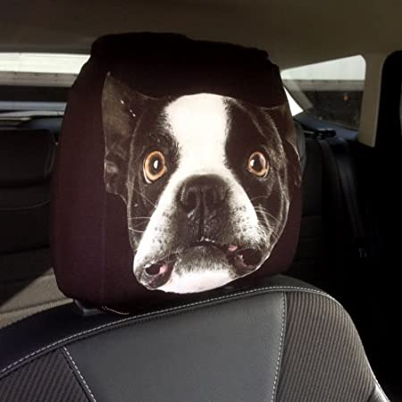CAR SEAT HEAD REST COVERS 2 PACK FRENCH BULLDOG DESIGN MADE IN YORKSHIRE Amazoncouk Kitchen Home