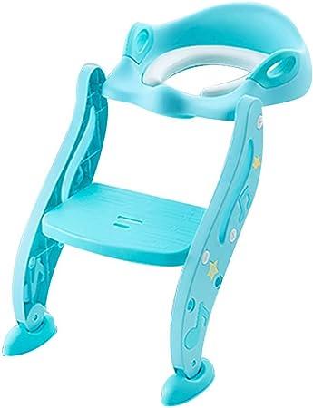 QFbp Asiento De Inodoro Plegable Azul para Entrenador, La Escalera para Inodoro Se Puede Usar De 1 A 7 Años: Amazon.es: Hogar