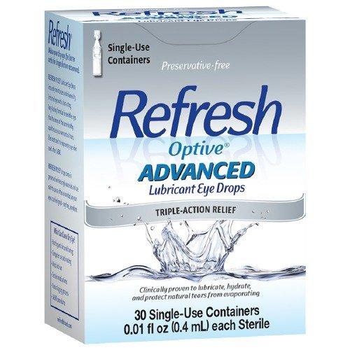 Refresh Optive Advanced Lubricant Eye Drops Single Use Conta