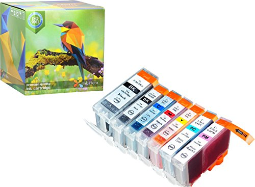 Ink Hero 7 Pack Ink Cartridges for BCI-3 BCI-6 BJC 8200 Pixma iP6000D S800 S820 S820D S830d S900 S9000 i900D i9100 i950 i960 Printer Inks for Inkjet Printers