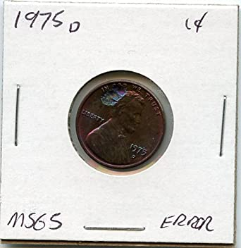 1975 D Lincoln Cent Penny MS-65 US Mint at Amazon's