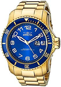 Invicta Men's 15347 Pro Diver Blue and Yellow Gold-Tone Stainless Steel Watch