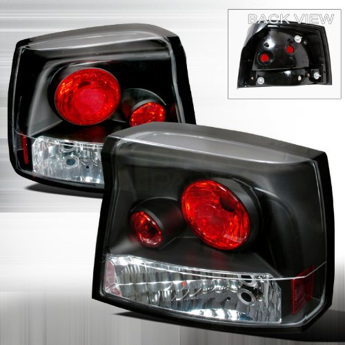 Spec-D Tuning LT-CHG05JM-TM Dodge Charger R/T Se Srt8 Sxt Black Altezza Tail Lights 2006 Dodge Charger Srt8