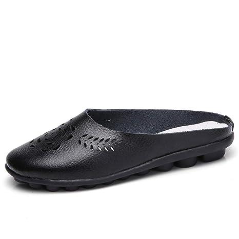 0396ed1b5c4b0 Amazon.com: August Jim Women Flats Shoes,Round Toe Moccasins Shoes ...