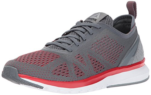 Reebok Men's Print Smooth Clip Ultk Running Shoe, Alloy/Primal Red/White/Coal/Pewter/Flint Grey, 7 M US (7 Flint Grey)