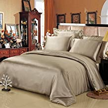 LILYSILK Silk Bedding Sets Flat sheet and Pair of pillowcases-Queen, Taupe