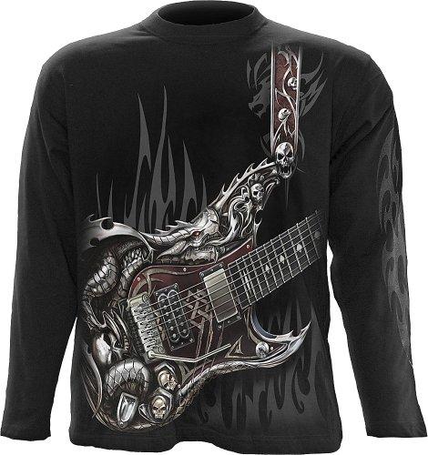 Spiral - Mens - AIR Guitar - Longsleeve T-Shirt Black - -