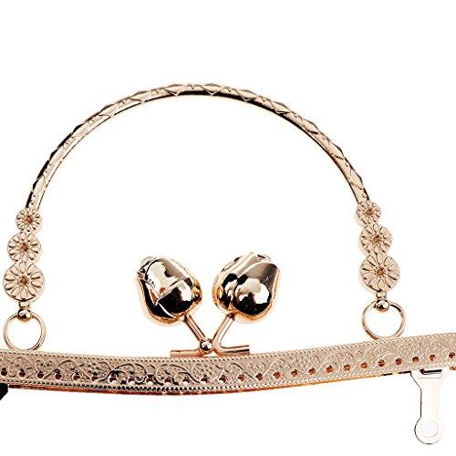 Homyl Metallrahmen Kuss-Verschluss Taschenrahmen Taschenbügel zum Einnähen Verschluss für Handtasche Münzbörse Geldbeutel - Bronze Hell Gold Ebk5a0XO