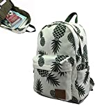 Ananas Knapsack - Outdoor Travel Bag Woman Backpack Portable Casual Daily Pineapple Print School Book - Haversack Comosu - 1PCs