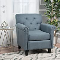 Christopher Knight Home 299597 Veronica Arm Chair, Blue Grey