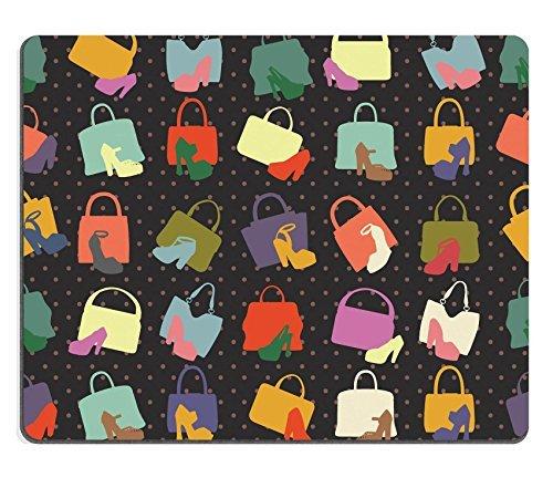 Jun xt Gaming Mousepad ID: 40621390 Silhouettes of handbag shoes Seamless pattern
