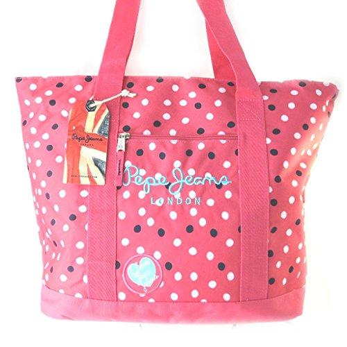 Shopping bag Pepe Jeanspiselli rosa (44x36x14 cm).