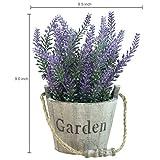MyGift 9-Inch Artificial Lavender Plant, Faux