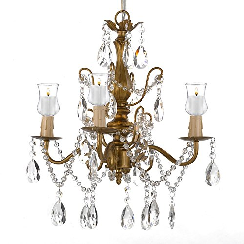 Outdoor event lighting amazon wrought iron crystal 4 light gold chandelier lighting for indooroutdoor use great for outdoor events hardwire and plug in mozeypictures Gallery