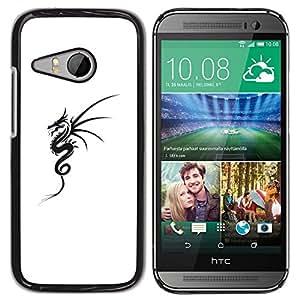 For HTC ONE MINI 2 / M8 MINI , S-type® Black White Tattoo Ink Art - Arte & diseño plástico duro Fundas Cover Cubre Hard Case Cover