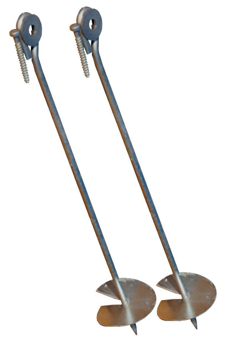 D'ancrage au sol pour poteau de balançoire ensemble de 2 Tiktaktoo