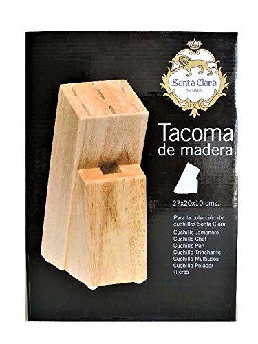 Compra Soporte de Madera Maciza para Cuchillos de Cocina - Tacoma de Madera para 6 Cuchillos - Set para 6 Cuchillos de Cocina en Amazon.es