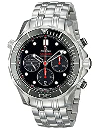Omega Men's 21230445001001 Analog Display Automatic Self Wind Silver Watch