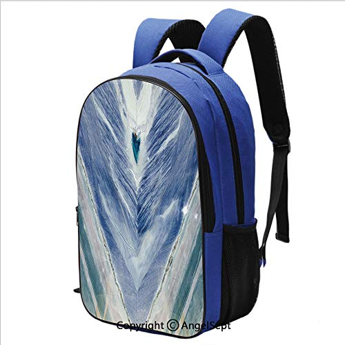 Backpack for School College Student Onyx Stone Tribal Style with Color Elements Agate Authentic Pattern Children School Bookbags High Class Back Pack,Teal Dark Blue Light Grey ()