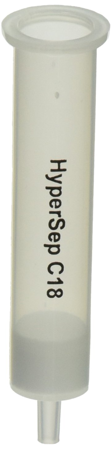 Thermo Chromatography 60108-305 HyperSep C18 Extraction Column, 500 mg Bed Weight, 6 ml Column Volume (Pack of 30)