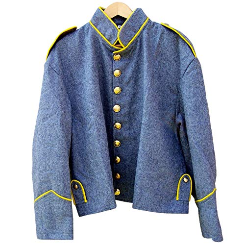 - 10Code Civil war Confederate Cavalry Shell Jacket with Shoulder Straps (44) Grey