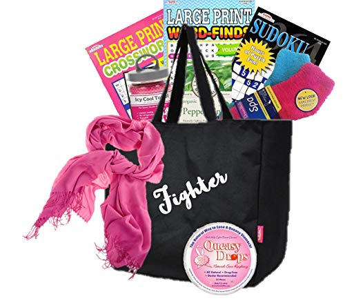 Just Don't Send Flowers A Little Queasy Fighter Cancer Gift Basket for Women/Breast Cancer/All Cancers/Chemo Gift -