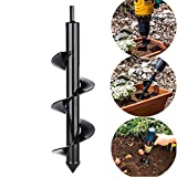 SuperThinker Auger Drill Bit, 3' x 10' Garden Plant Flower Bulb Rapid Planter for Planting Bulb Seedlings & Bedding, Earth Auger Drill Fence Post Umbrella Hole Digger for 3/8' Hex Drive Drill
